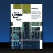 Conception de flyer ou couverture — Vecteur