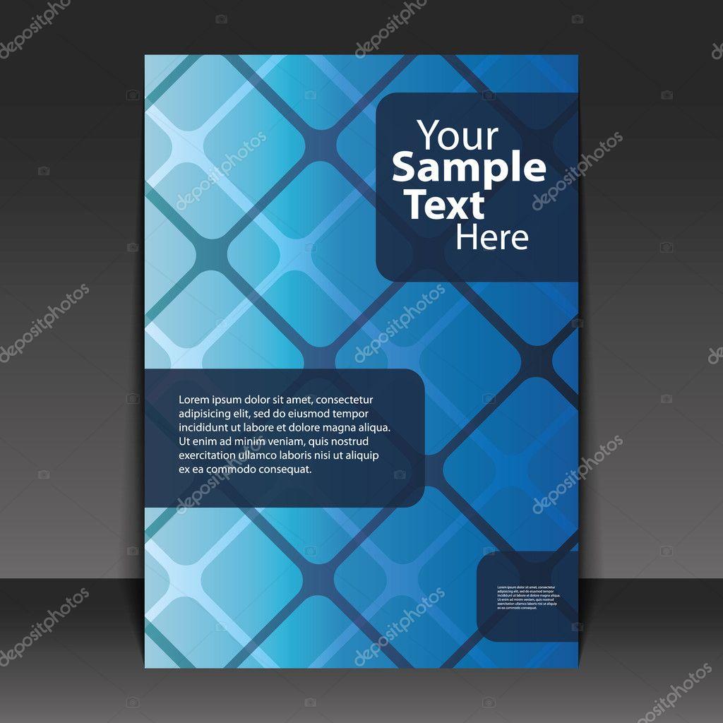 flyer design business stock vector copy bagotaj  blue business flyer or cover design abstract grid in editable vector format vector by bagotaj
