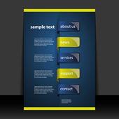 Flyer oder cover-design - unternehmen — Stockvektor