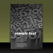Flyer oder cover design — Stockvektor