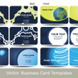 Colorful Business Cards — Image vectorielle