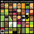 Royalty-Free Stock Vector Image: 40 Colorful Business Cards