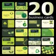 Business card set — Imagen vectorial