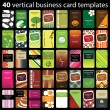Business card set - Vettoriali Stock