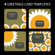 Stock Vector: 4 Greeting Cards