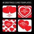 Royalty-Free Stock Vector Image: A set of 4 vector patterns for Valentines Day
