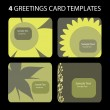 Greetings Card Templates — Stock Vector