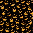 Stock Vector: Halloween Pumpkins Background