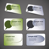 Colorful Business Cards — Stockvector
