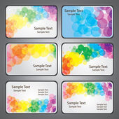 Colorful Business Cards — Stock Vector