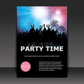 Flyer or Cover Design - Party Time — Stock Vector
