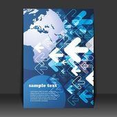Progettazione Flyer - business — Vettoriale Stock