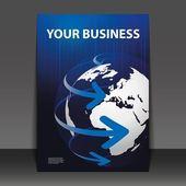 Diseño de flyer - negocios — Vector de stock
