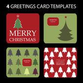 4 圣诞贺卡 — 图库矢量图片