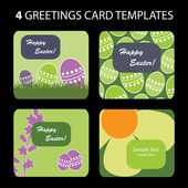 4 Easter Greeting Cards — Stock Vector