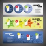 Header Design Set — Stock Vector