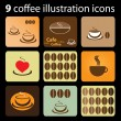 Royalty-Free Stock Vector Image: 9 Coffee Illustration Icons