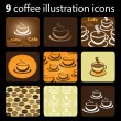 Royalty-Free Stock Vector Image: 9 Coffee Icons