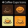 4 Coffee Cup Icons — Stock Vector #8038374