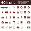 Set of 40 icons and design elements — Stock Vector #8038380