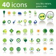Set of 40 icons and design elements — Stock Vector