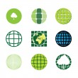 Royalty-Free Stock Imagen vectorial: 9 eco icons