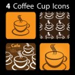 4 Coffee Cup Icons — Stock Vector #8038419