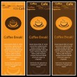 Stock Vector: Three Coffee Banners