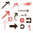 Set of Vector Arrows - Stockvectorbeeld