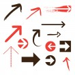 Set of Vector Arrows - Stock Vector