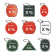 Vector illustrations of discount sale tags — Stock Vector