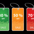 Stock Vector: Vector illustrations of discount sale tags