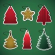 Christmas tree price tags — Vector de stock