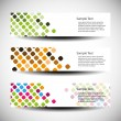 Stock Vector: Three abstract header designs