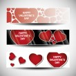 Vector set of three Valentines Day header designs — Stock Vector #8038626