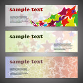 Header Design Set — Stockvector