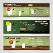Header Design Set — Stock Vector