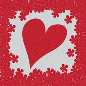 Valentines Day: Heart Background — Vetorial Stock