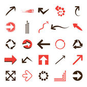 Set of Vector Arrows — Stock Vector