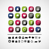 Set of 20 icon vectors — Stock Vector
