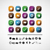 Set of 20 icon vectors — Stock Vector