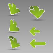 3d etiquetas flecha — Vector de stock