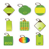 Eco Tag Vectors — Stock Vector