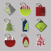 Christmas price tags — Stockvector