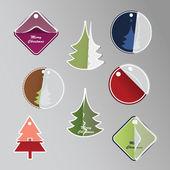 Kerstmis prijskaartjes — Stockvector