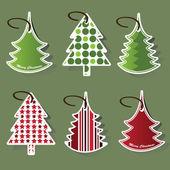 Christmas tree price tags — Stock Vector