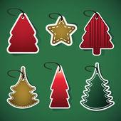 Kerstboom prijskaartjes — Stockvector