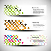 Three abstract header designs — Stok Vektör