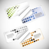 Set of colorful blank rectangle labels — Stockvector