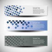 Vektor-satz von drei bannerdesigns — Stockvektor